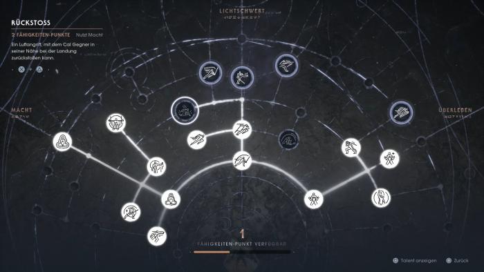 Der Talentbaum hat keine ganz tollen Überraschungen im Angebot. (Bild: EA/Screenshot: Golem.de)