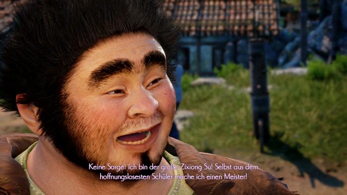 Der große Zixiong Su ist einer der Kampftrainer in Bailu. (Bild: Deep Silver/Screenshot: Golem.de)