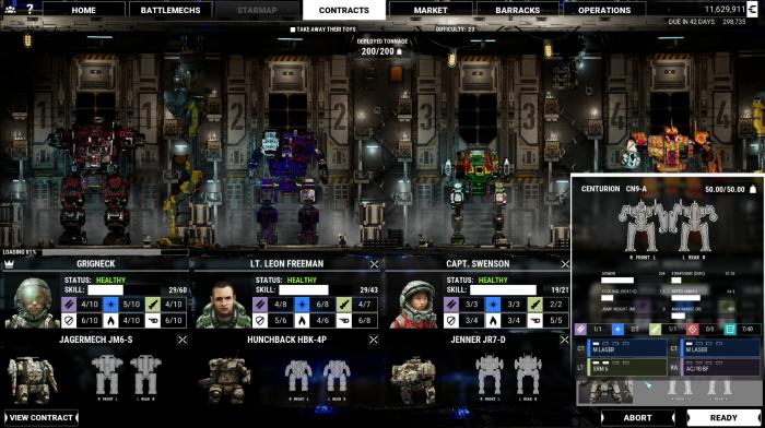 Unsere Lance aus vier Piloten (Bild: Piranha Games/Screenshot: Oliver Nickel/Golem.de)