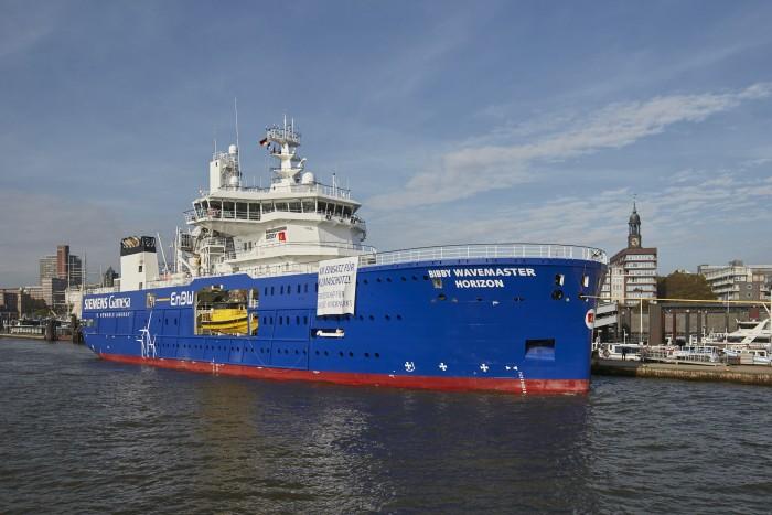 Die Bibby Wavemaster Horizon in Hamburg (Bild: EnBW)