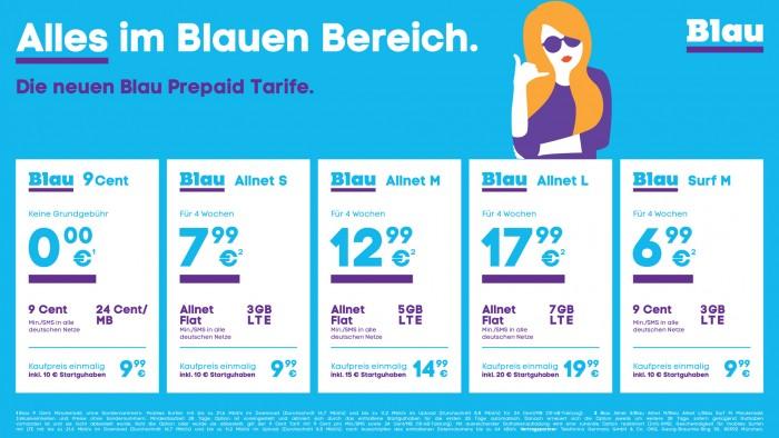 Neue Prepaid-Tarife bei Blau (Bild: Telefónica)