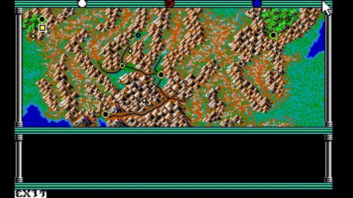 Die Spielwelt von Champions of Krynn ist klein und besteht nur aus wenigen Orten, die man besuchen kann. (Bild: SSI/Screenshot: Medienagentur plassma)