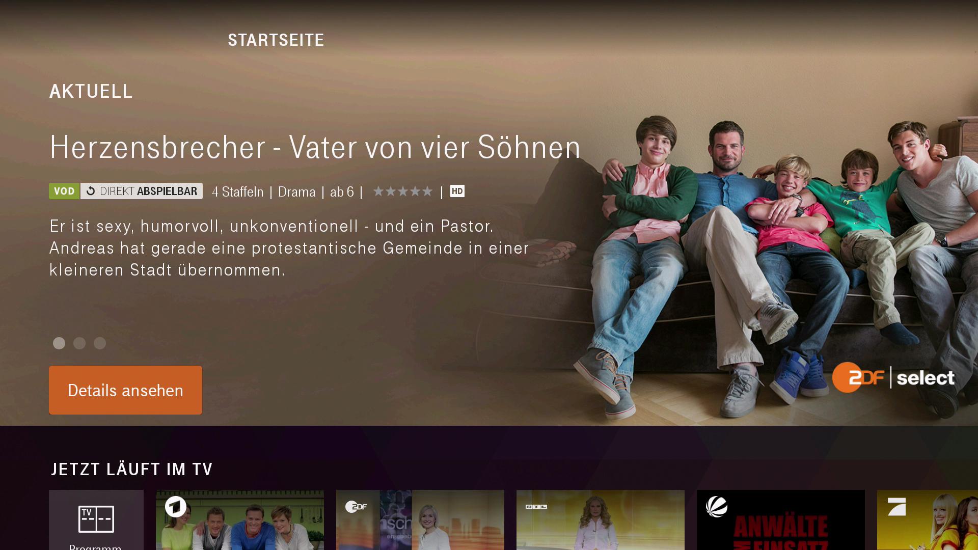 Verkauf des Magenta-TV-Stick: Magenta TV und Disney+ jeweils drei Monate kostenlos - Startseite von Magenta TV (Bild: Ingo Pakalski/Golem.de)
