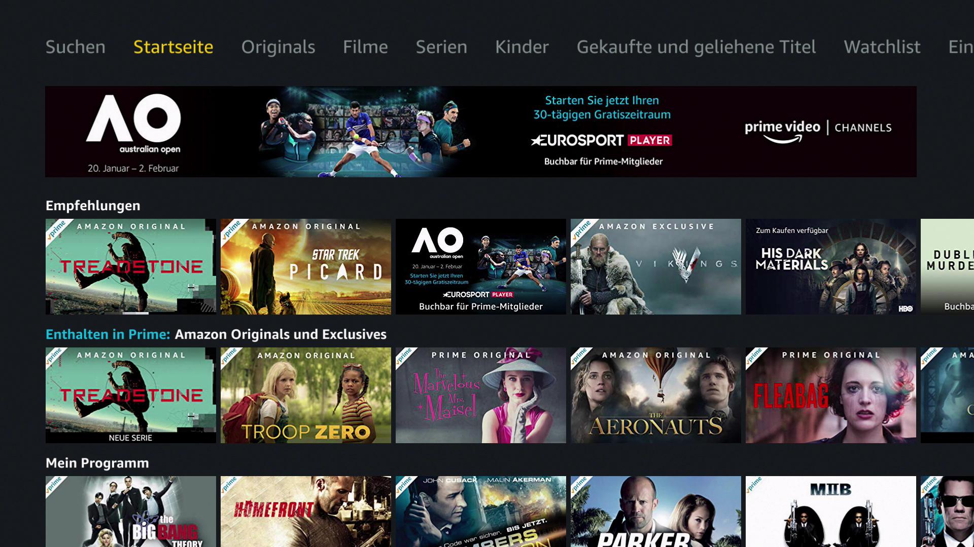 Verkauf des Magenta-TV-Stick: Magenta TV und Disney+ jeweils drei Monate kostenlos - So sieht die Prime-Video-App auf dem Magenta-TV-Stick aus. (Bild: Ingo Pakalski/Golem.de)