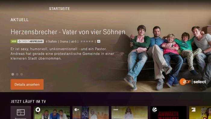 Startseite von Magenta TV (Bild: Ingo Pakalski/Golem.de)
