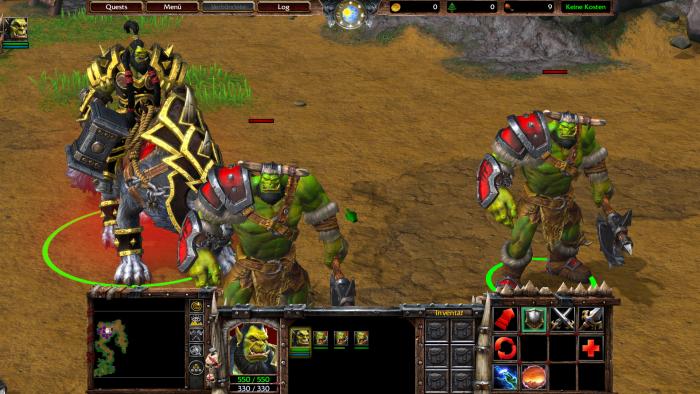Thrall und ein paar seiner Orks in der Kampagne mit Reforged-Grafik. (Bild: Blizzard/Screenshot: Golem.de)