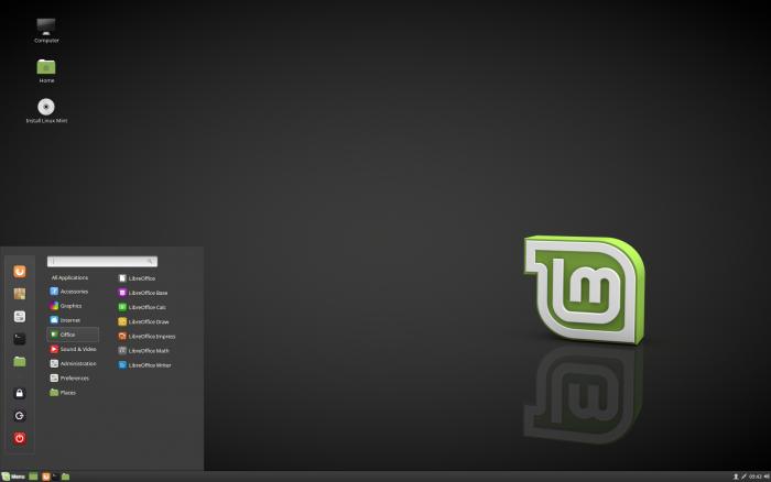 Mint Linux mit dem Cinnamon-Desktop ist eine gute KDE-Alternative und richtet sich besonders an Windows-Umsteiger. (Bild: Mint Linux/Screenshot: Golem.de)
