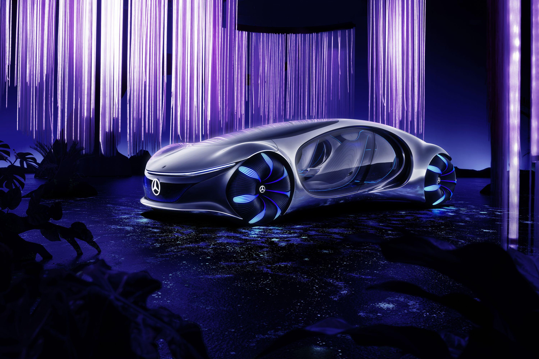 Elektroauto: Fahren mit einem Banshee - Schon die Bezeichnung AVTR spielt auf den Film an. (Bild: Daimler)