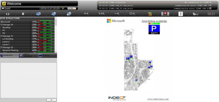 Screenshot der Parkhaussteuerung von Microsoft (Screenshot: Golem.de)