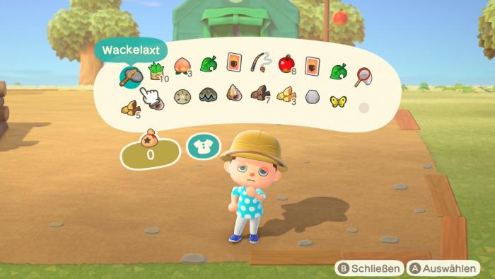 Unser Inventar füllt sich sehr schnell durch allerlei Fundgegenstände. (Bild: Nintendo/Screenshot: Golem.de)