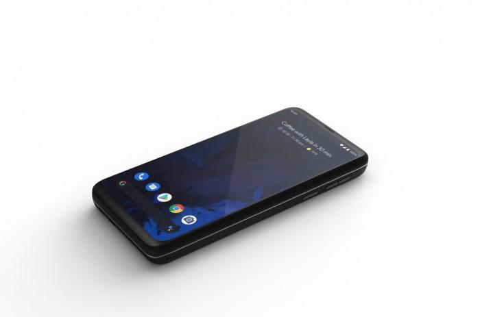 Zusammengeschoben sieht das Astro Slide aus wie ein herkömmliches Smartphone. (Bild: Indiegogo/Planet Computers)