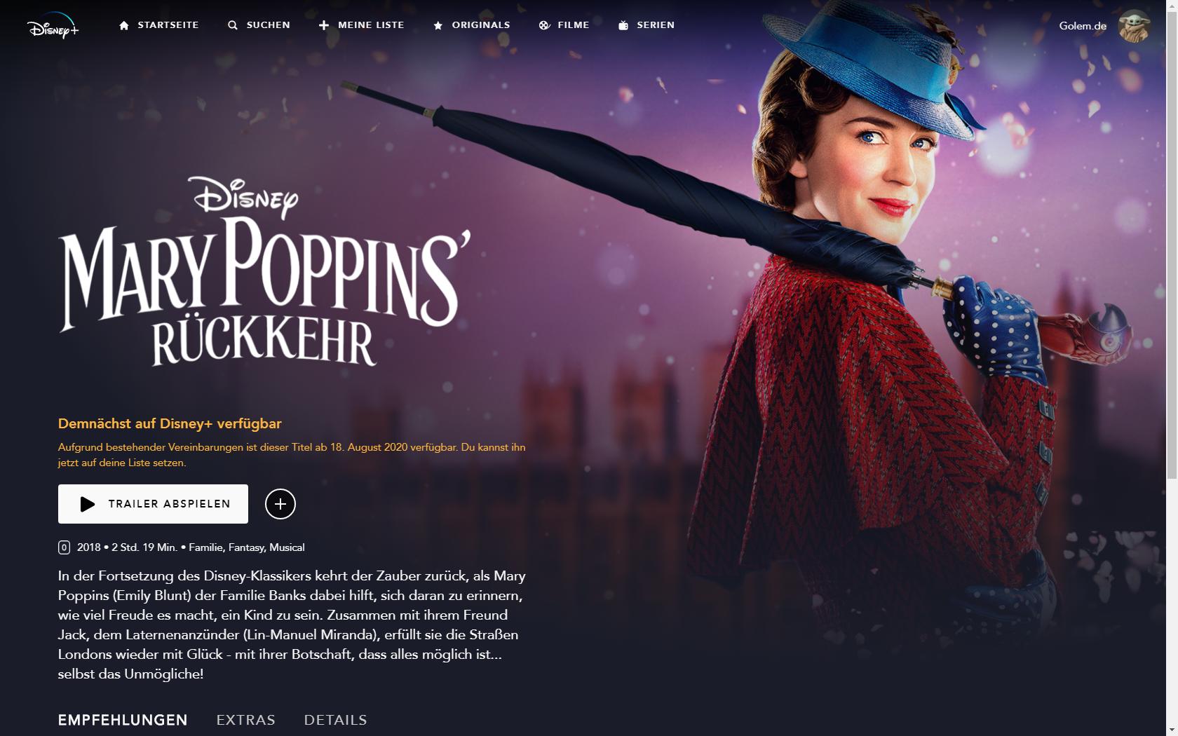 Konkurrenz für Netflix und Prime Video: Disney nennt Filme und Serien für Disney+ in Deutschland -