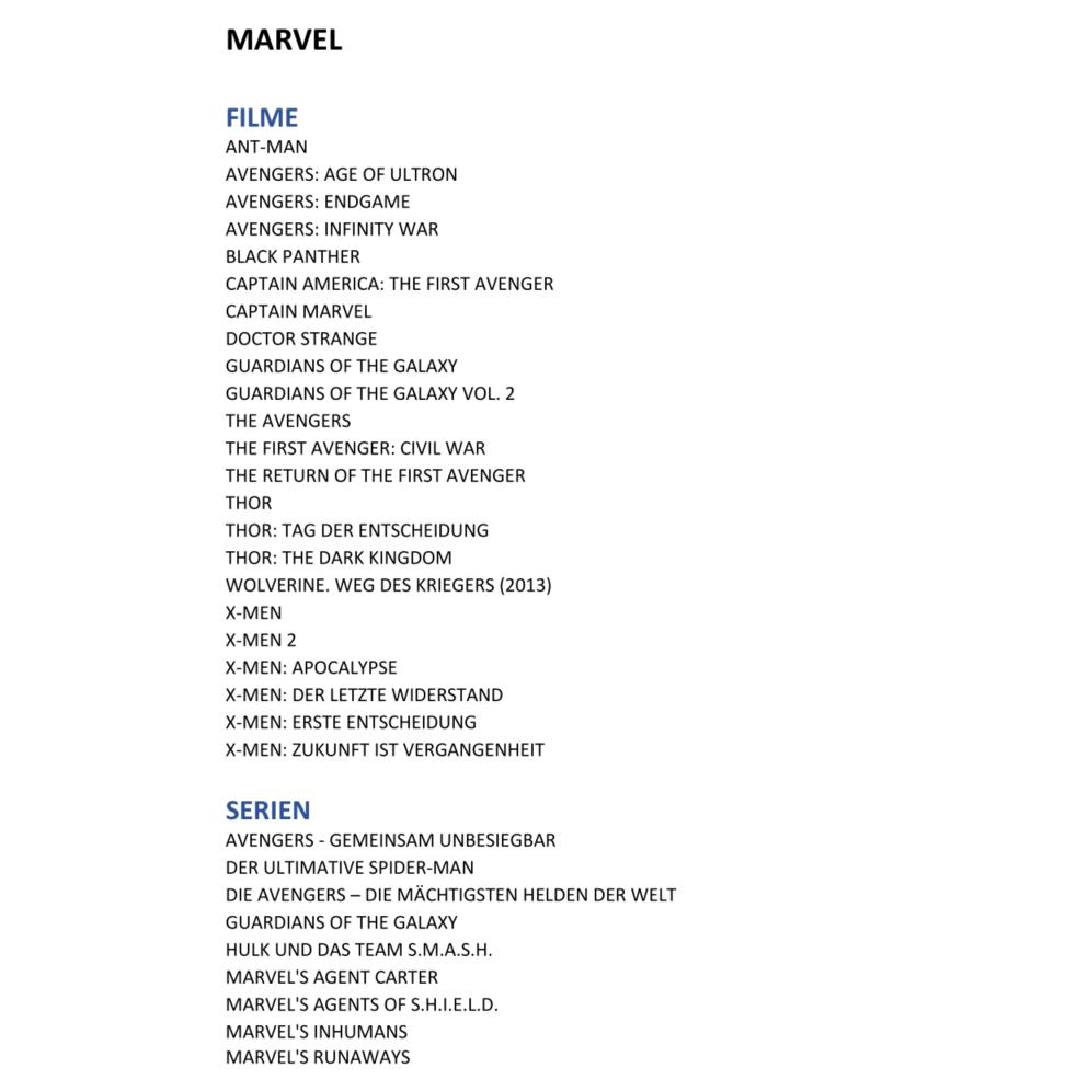 Konkurrenz für Netflix und Prime Video: Disney nennt Filme und Serien für Disney+ in Deutschland - Diese Filme, Serien und Kurzfilme aus dem Marvel-Sortiment wird es bei Disney+ geben - Auswahl. (Bild: Disney)