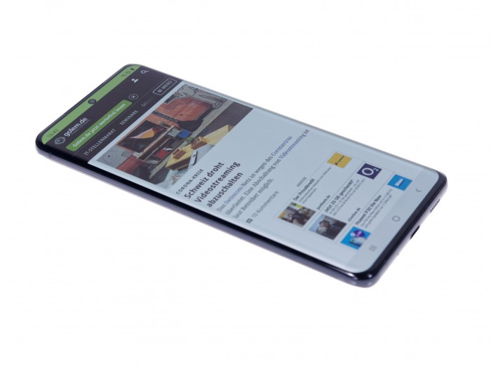 Das Galaxy S20 Ultra hat einen 6,9 Zoll großen Bildschirm. (Bild: Daniel Pook/Golem.de)