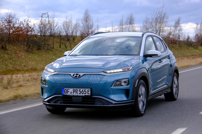 Elektromobilität: Ein Besuch im tschechischen Grünheide - Der Kona Elektro ist ein Kompakt-SUV. Mit seinem 64-kWh-Akku schafft er bis zu 484 km (WLTP).(Bild: Hyundai / Angelika Emmerling)