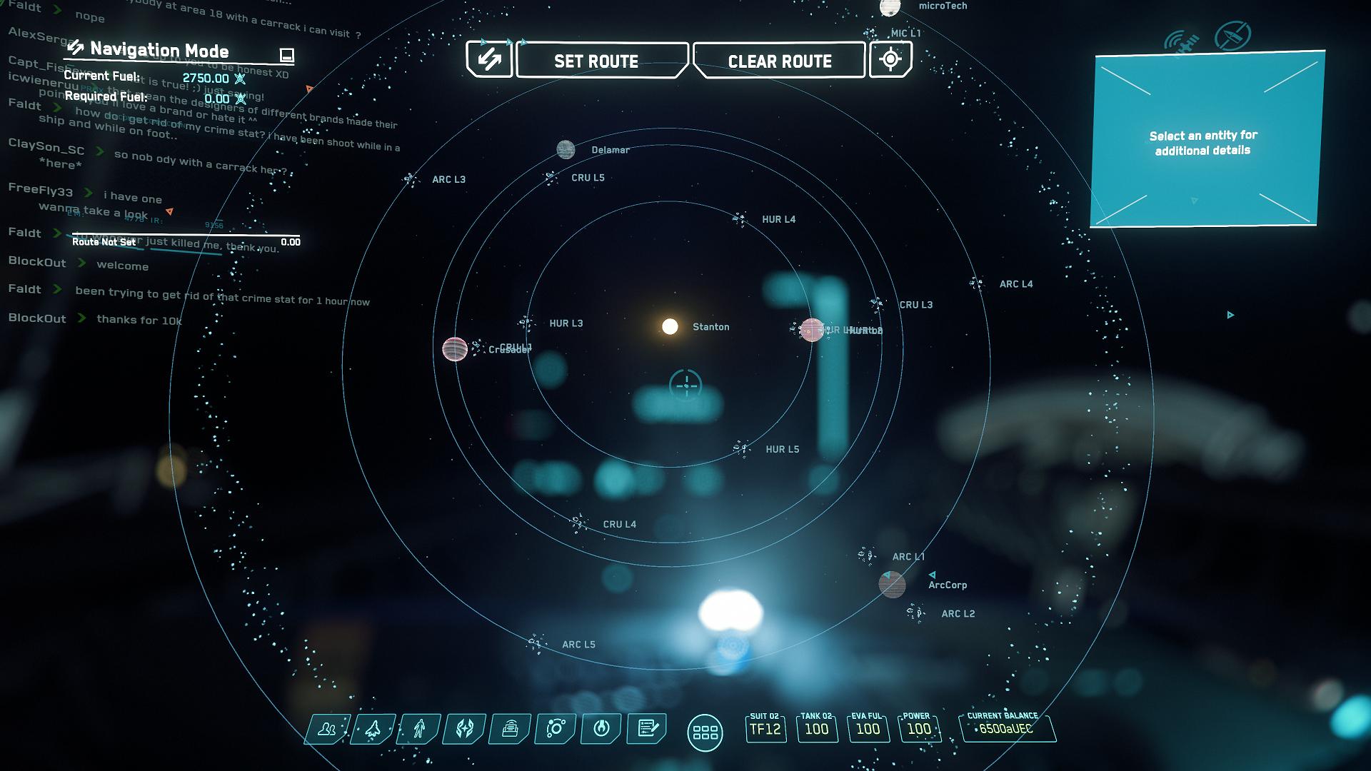 Wo Anfänger starten können: Per Anhalter durch Star Citizen - Wenn wir weiter herauszoomen, sehen wir das gesamte Stanton-System. (Bild: CIG/Screenshot: Golem.de)