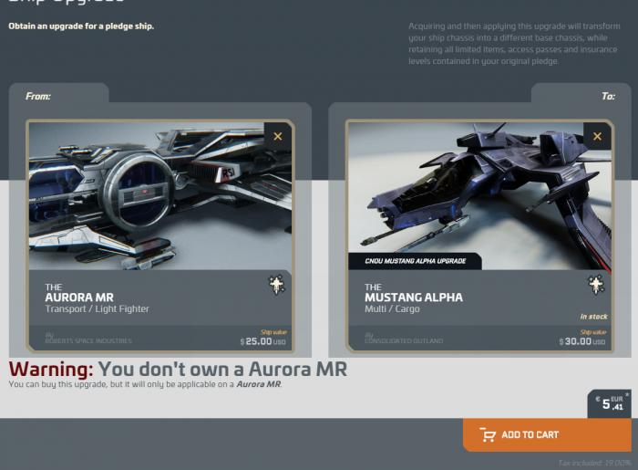 Da die Mustang Alpha beim Schiffstausch mehr wert ist, würden wir Anfängern dieses Schiff empfehlen. (Bild: CIG/Screenshot: Golem.de)