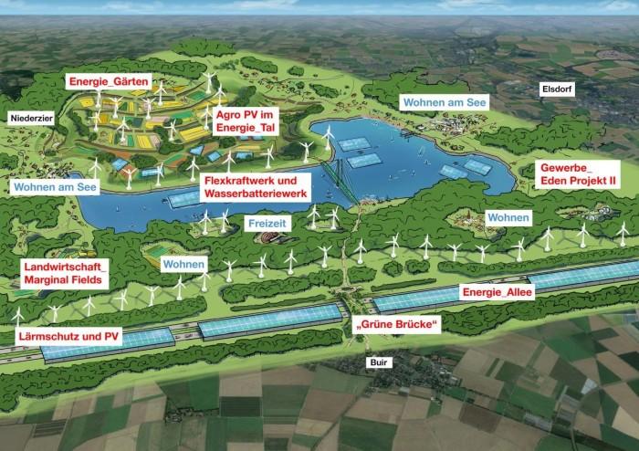 So soll die Energie-Arena im Tagebau Hambach aussehen. (Bild: Stadt Kerpen)