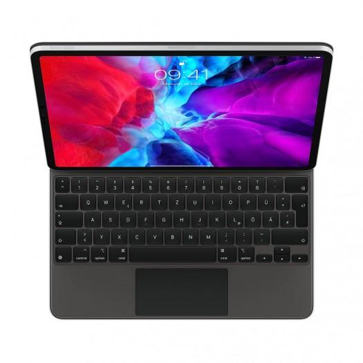 Das mit einem iPad Pro 12.9 verbundene Magic Keyboard von Apple (Bild: Apple)