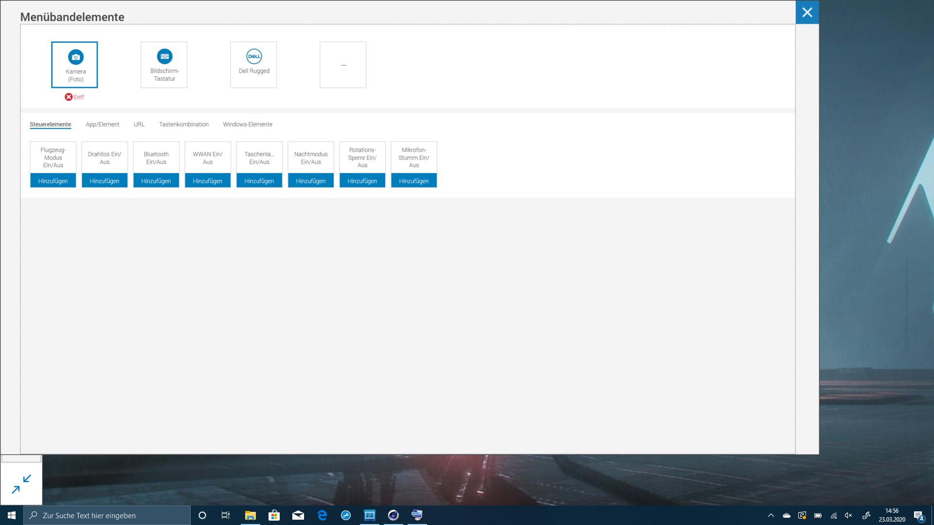 Dell Latitude 7220 im Test: Das Rugged-Tablet für die Zombieapokalypse - Makros lassen sich konfigurieren. (Screenshot: Oliver Nickel/Golem.de)
