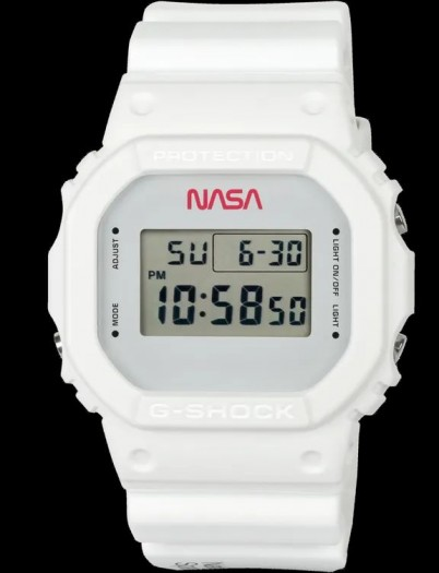 Die G-Shock DW-5600 von Casio im Nasa-Design (Bild: Casio)