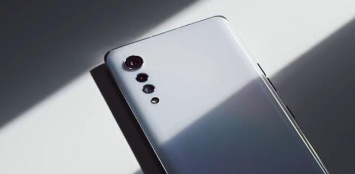 Das LG Velvet hat eine auffällige tropfenförmige Kamera. (Bild: LG/Screenshot: Golem.de)