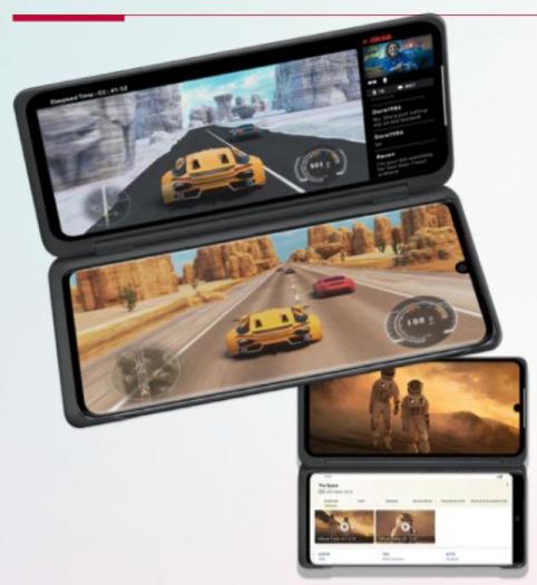 LG Velvet mit Dual-Screen-Zubehör (Bild: LG)