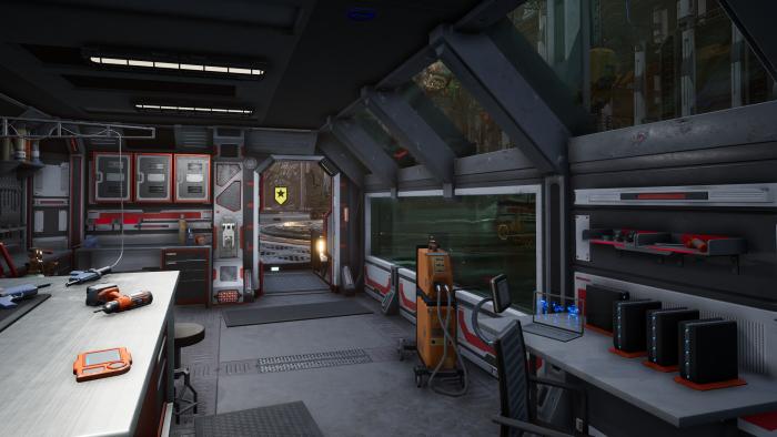 Mechwarrior 5 ohne Raytracing (Rechteinhaber: Piranha Games, Screenshot: Golem.de)