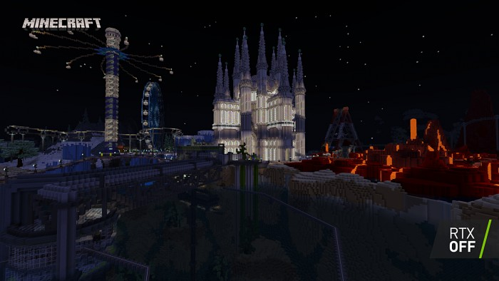 Minecraft mit regulärer Optik (Bild: Nvidia)