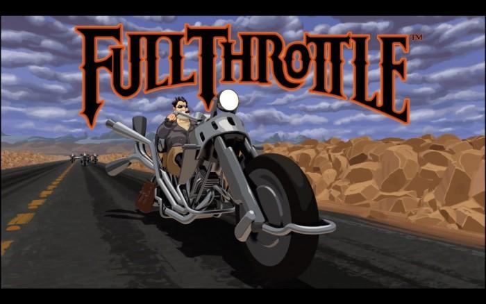 Ben und die Polecats geben Gas: Das Intro von Full Throttle führt den Spieler gebührend in die Welt knallharter Bikergangs ein. (Bild: Lucas Arts / Screenshot: Medienagentur plassma)