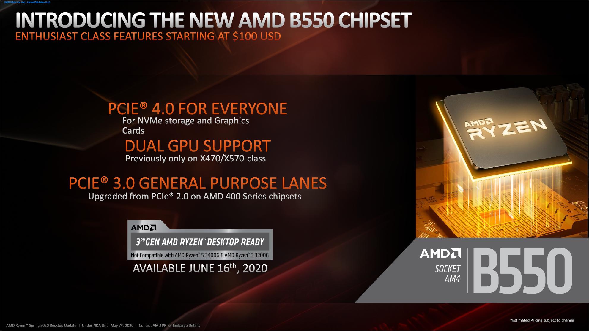 AMD Ryzen: B550 bringt PCIe Gen4 für 100-Euro-Boards -