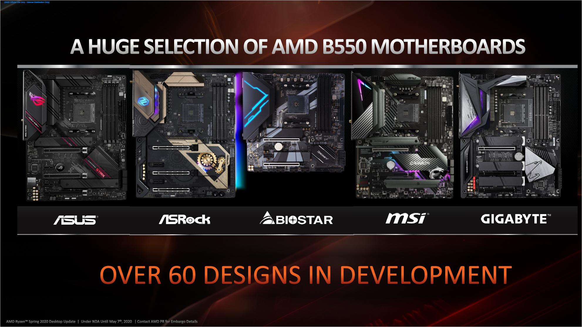 AMD Ryzen: B550 bringt PCIe Gen4 für 100-Euro-Boards - Partner-Platinen erscheinen im Juni 2020. (Bild: AMD)
