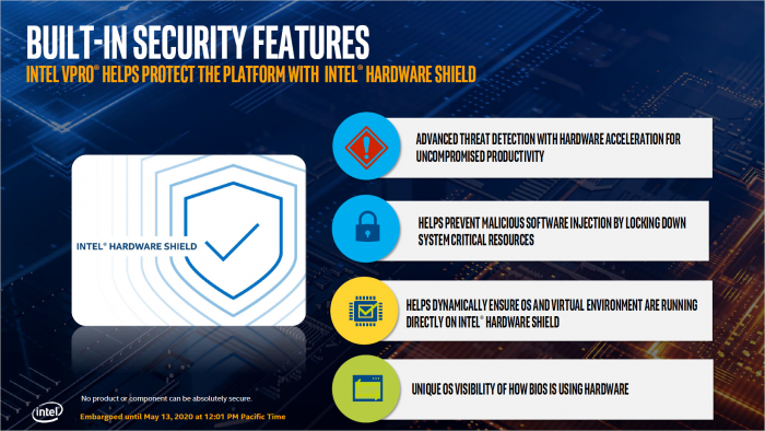 Hardware Shield bei 10th Gen vPro (Bild: Intel)