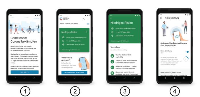 Artwork der Corona-Warn-App für Android (Bild: T-Systems/SAP)