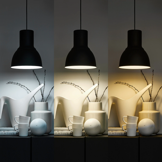 Trådfri LED-Lampe mit drei Farbtemperaturen (Bild: Ikea)