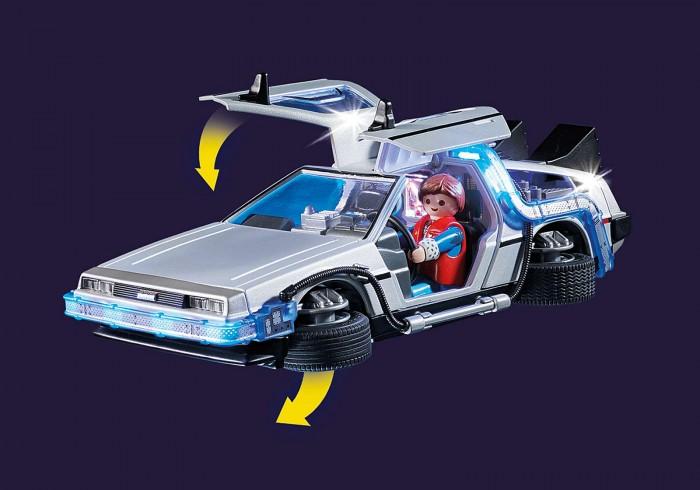 DeLorean aus Zurück in die Zukunft von Playmobil mit einklappbaren Rädern (Bild: Playmobil)