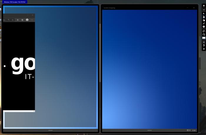 Wir können Fenster auch an den Ecken  einrasten. (Bild: Microsoft/Screenshot: Golem.de)