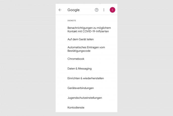 Die neue Bluetooth-Schnittstelle lässt sich bei Android über die Google-Dienste verwalten. (Screenshot: Golem.de)