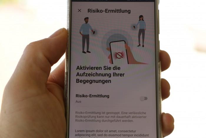 """Die Hauptfunktion der Corona-Warn-App ist die """"Risikoermittlung"""". (Foto: Friedhelm Greis/Golem.de)"""