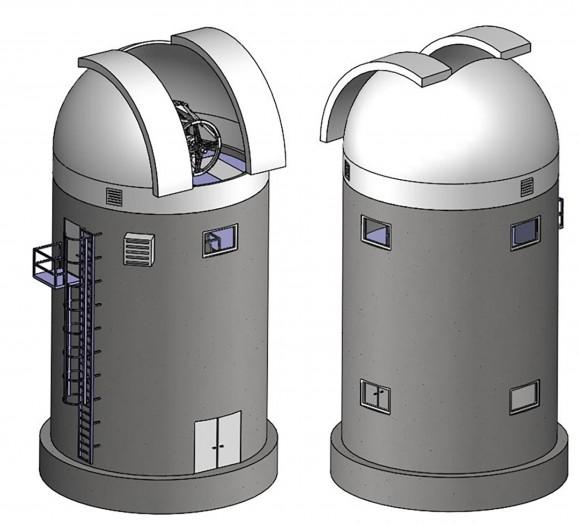 So wird das fertige Observatorium aussehen. (Bild: DLR/CC-BY 3.0)