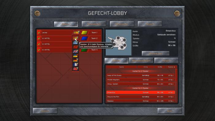 Im Mehrspieler kämpfen bis zu acht Spieler gegeneinander. (Bild: Petroglyph/Screenshot: Golem.de)