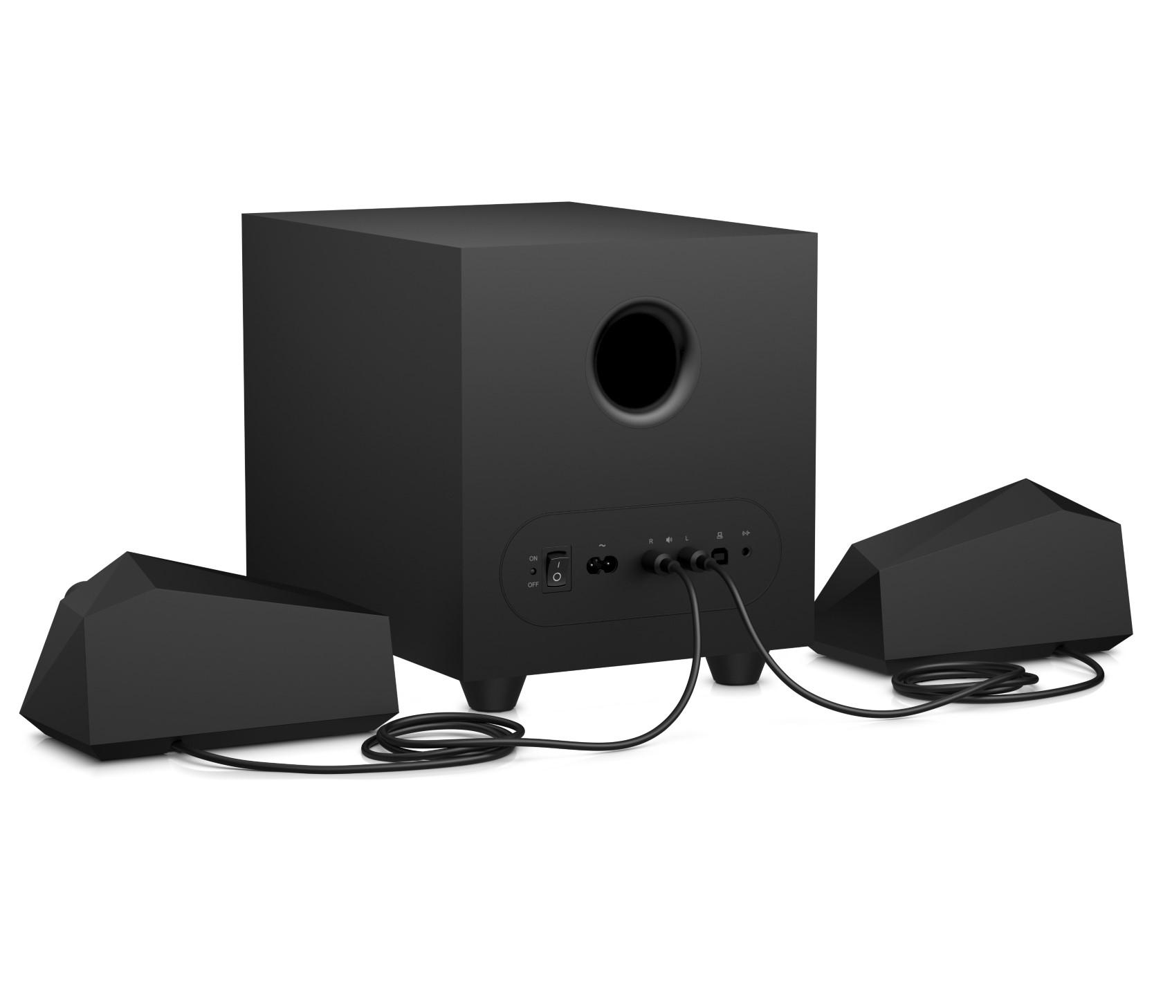 Zubehör: HP bringt neue Headsets, Lautsprecher und Ohrstöpsel - HP Gaming Speakers X1000 (Bild: HP)