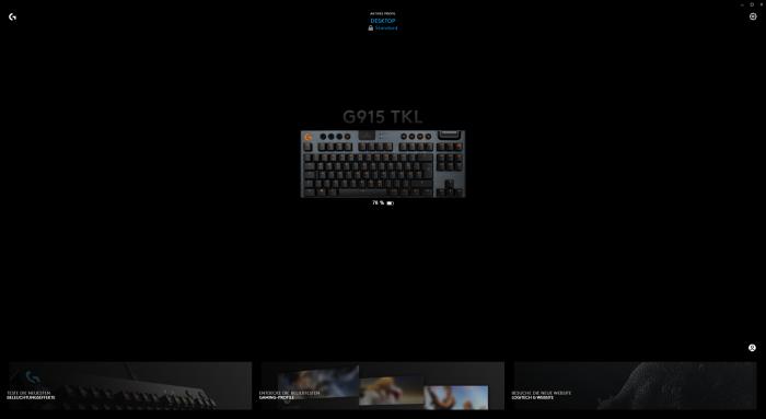 Die Software zeigt den Akkustand an. (Screenshot: Oliver Nickel/Golem.de)