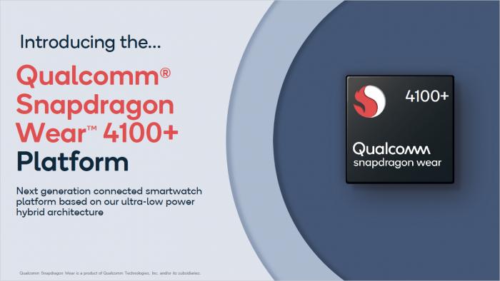 Präsentation zum Snapdragon Wear 4100 (Bild: Qualcomm)