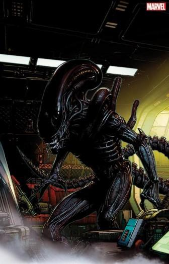 Artwork des Xenomorph (Bild: David Finch/Marvel Studios)
