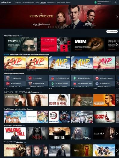 Im Web-Browser befindet sich der Live-TV-Channel hinter dem Button Channel Guide. (Bild: Amazon/Screenshot: Golem.de)