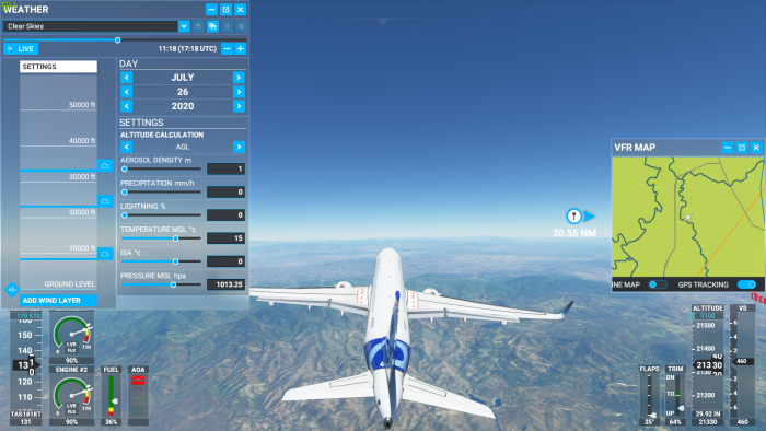 Den Airbus 320neo haben wir am liebsten aus der Außenansicht gesteuert. (Bild: Microsoft/Screenshot: Golem.de)
