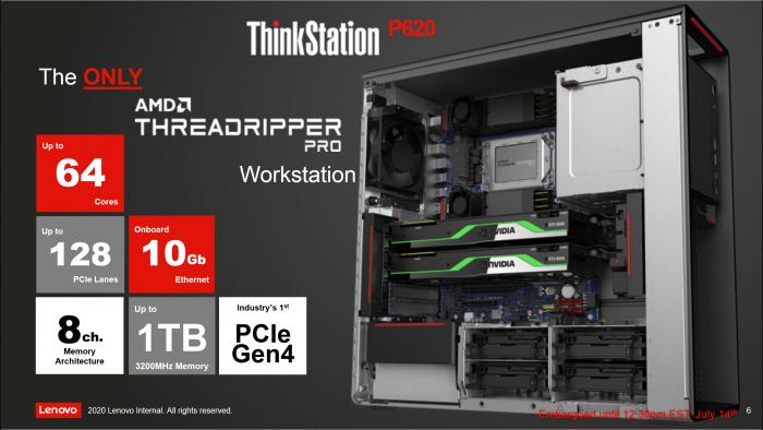 Überblick zur Thinkstation P620 (Bild: Lenovo)