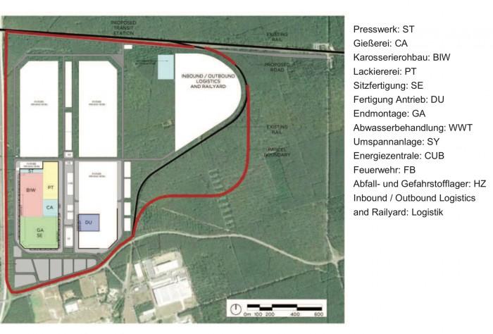 Gigafactory Lageplan (Bild: Tesla)