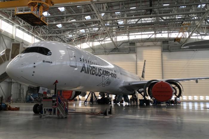 Das ist die Zukunft: zweistrahlige Maschinen wie der Airbus A350. (Bild: Andreas Sebayang/Golem.de)